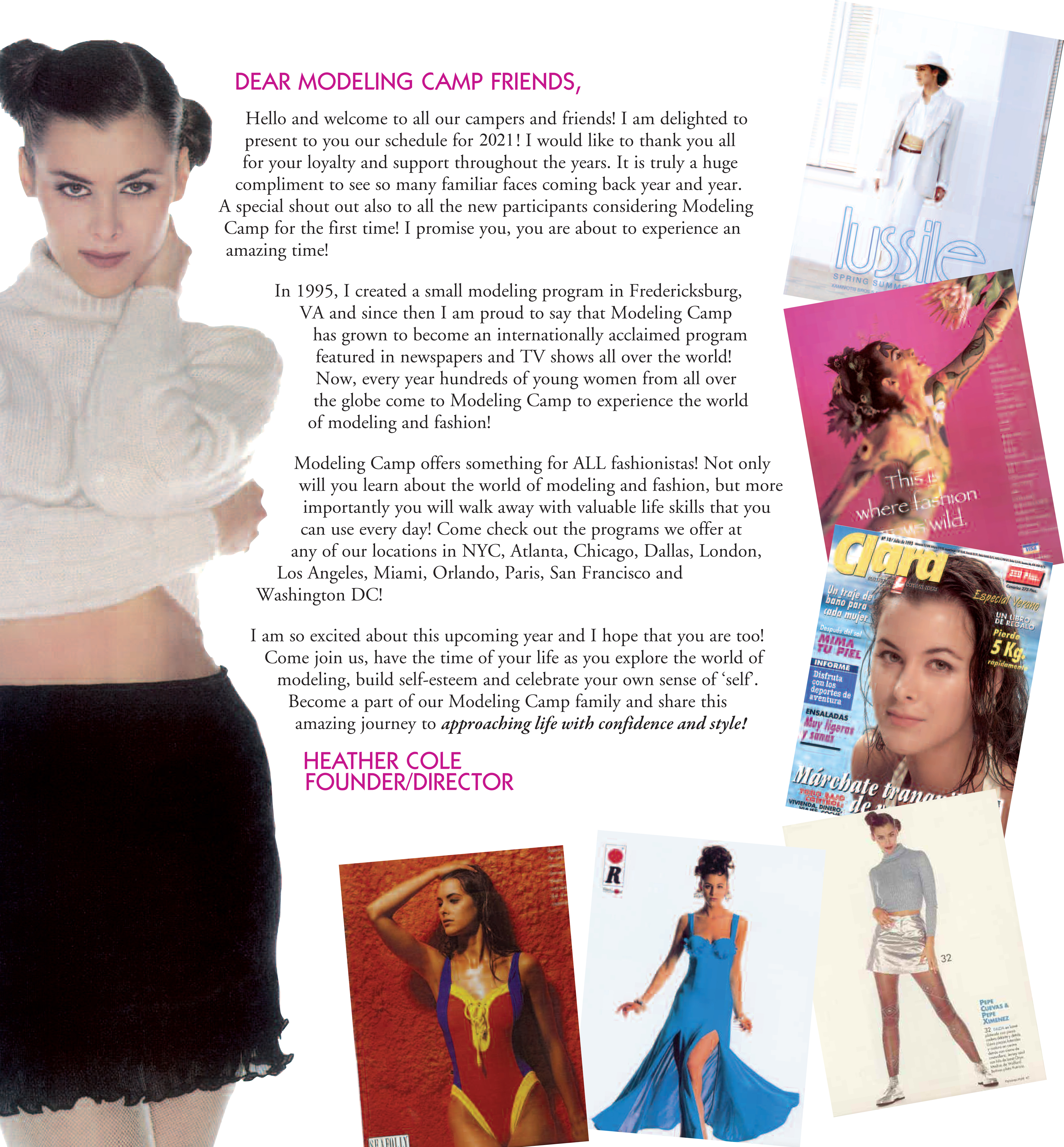 Modeling Camp Founder Heather Cole